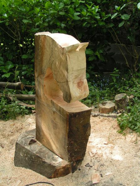 Horse head bench project chainsaw carving forum