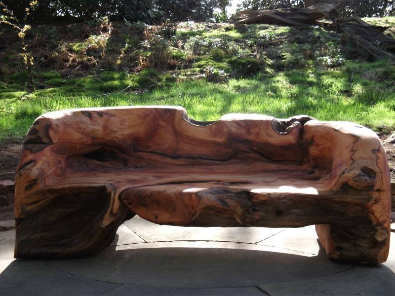 Carved yew bench chainsaw carving forum arbtalk the social