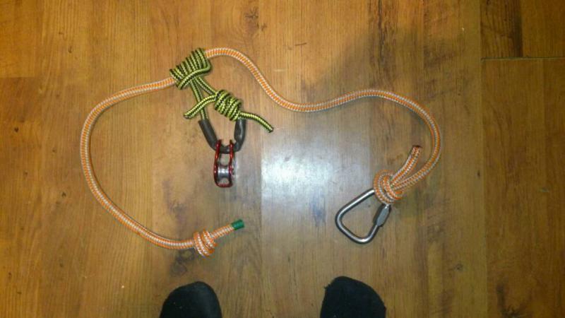 Poor man's pulley saver cambium saver - Climbers talk
