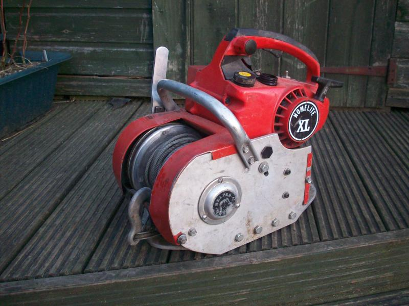 how to make a chainsaw winch