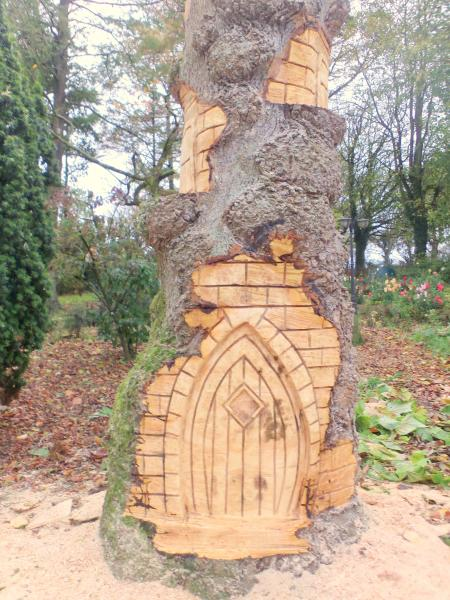 Fairy tower stump carving chainsaw forum