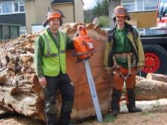 Jon (Owner of Downlands tree surgery Ltd) and me
