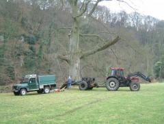 Winching a Beech over