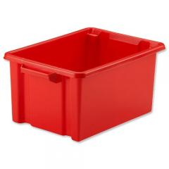 shelf tidy plastic storage box red 5l 1922 p