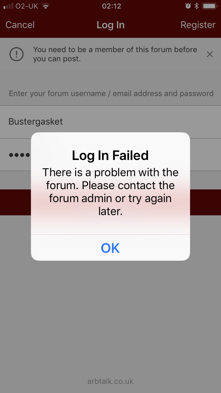 app not working - Firewood forum - Arbtalk | The Social